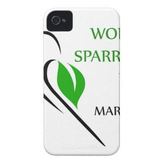 Mundo gorrión día 20 de marzo Case-Mate iPhone 4 coberturas