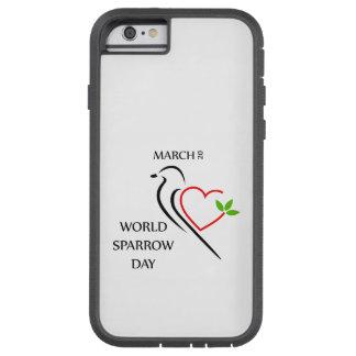 Mundo gorrión día 20 de marzo funda de iPhone 6 tough xtreme