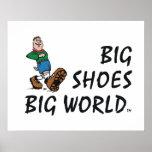 Mundo grande de los zapatos grandes SUPERIORES Impresiones