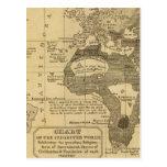 Mundo habitado tarjeta postal