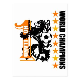 Mundo holandés ningún del balón de fútbol 1 Voetba Tarjetas Postales