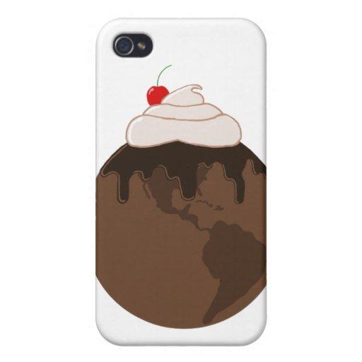 Mundo i del chocolate iPhone 4 cárcasas
