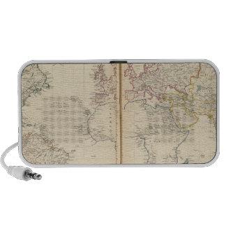 Mundo la proyección de Mercator 2 Notebook Altavoces