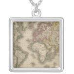 Mundo, la proyección de Mercator 2 Colgante Cuadrado
