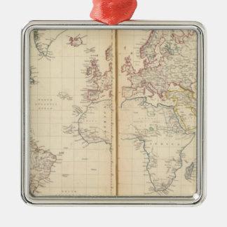 Mundo, la proyección de Mercator 2 Adornos