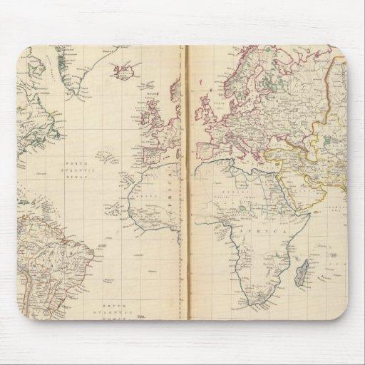 Mundo, la proyección de Mercator 2 Tapetes De Ratones