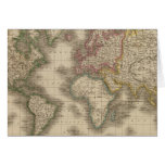 Mundo, la proyección de Mercator 2 Tarjeta De Felicitación