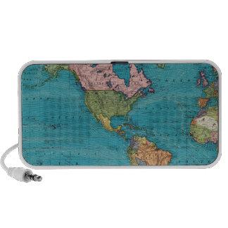 Mundo la proyección de Mercator Laptop Altavoz