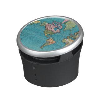 Mundo, la proyección de Mercator Altavoz Bluetooth