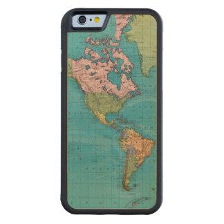 Mundo, la proyección de Mercator Funda De iPhone 6 Bumper Arce