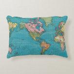 Mundo, la proyección de Mercator Cojín Decorativo