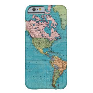 Mundo, la proyección de Mercator Funda De iPhone 6 Barely There
