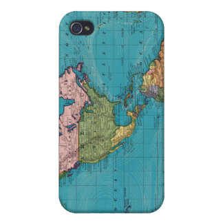 Mundo, la proyección de Mercator iPhone 4/4S Funda