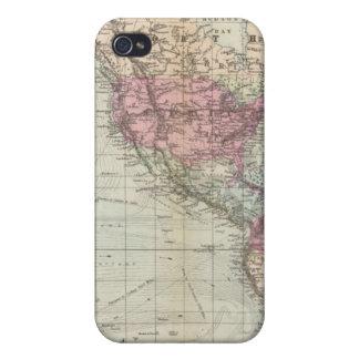 Mundo, la proyección de Mercator iPhone 4/4S Carcasa