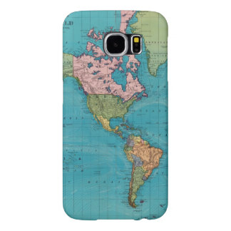 Mundo, la proyección de Mercator Fundas Samsung Galaxy S6