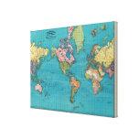 Mundo, la proyección de Mercator Lona Estirada Galerias