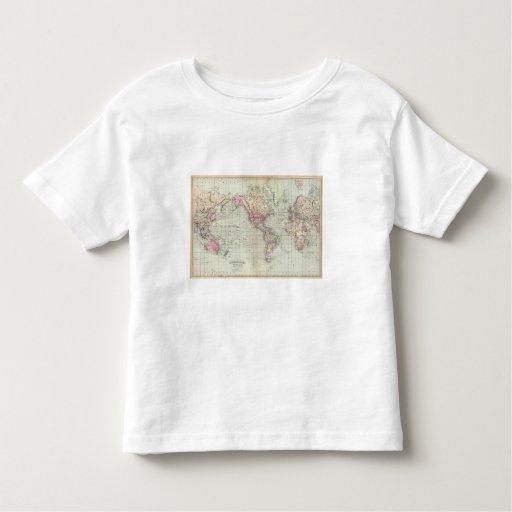 Mundo, la proyección de Mercator Playeras