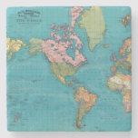 Mundo, la proyección de Mercator Posavasos De Piedra