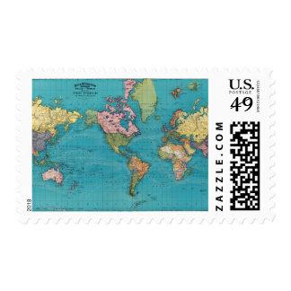 Mundo, la proyección de Mercator Sellos