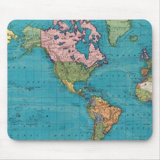 Mundo, la proyección de Mercator Alfombrilla De Raton
