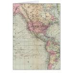 Mundo, la proyección de Mercator Tarjeta De Felicitación