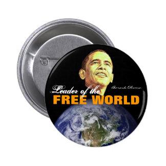 Mundo libre pin redondo de 2 pulgadas