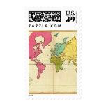 Mundo llano del mapa franqueo