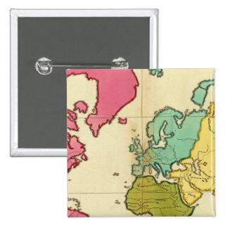 Mundo llano del mapa pin