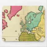 Mundo llano del mapa tapete de ratón