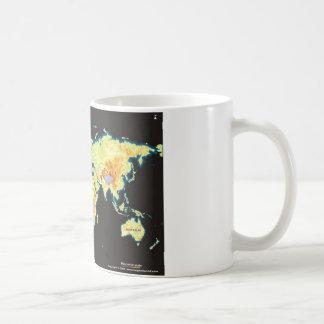 mundo map-2 taza básica blanca