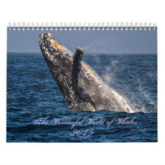 Mundo maravilloso del calendario de las ballenas