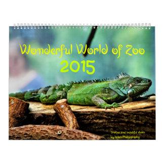 Mundo maravilloso del parque zoológico calendarios