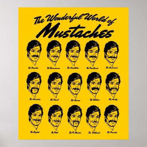 Mundo maravilloso del poster de los bigotes