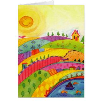 mundo maravilloso tarjeta de felicitación