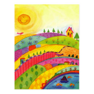 mundo maravilloso tarjeta postal