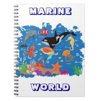 Mundo marino libreta espiral