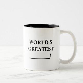 Mundo más grande taza dos tonos