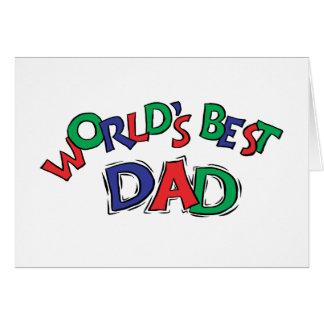 Mundo mejor tarjeta de felicitación