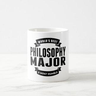Mundo mejor y la mayoría del comandante humilde de taza básica blanca
