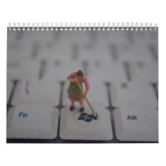 Mundo minúsculo calendario de pared