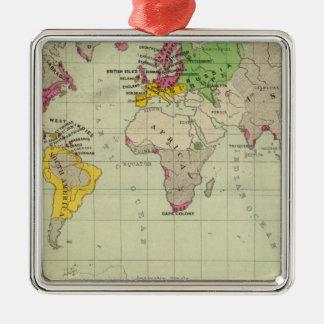 Mundo, misiones de Moravia Adorno Navideño Cuadrado De Metal