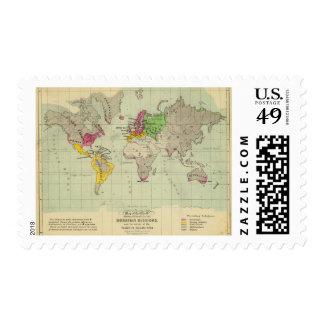 Mundo, misiones de Moravia Estampilla