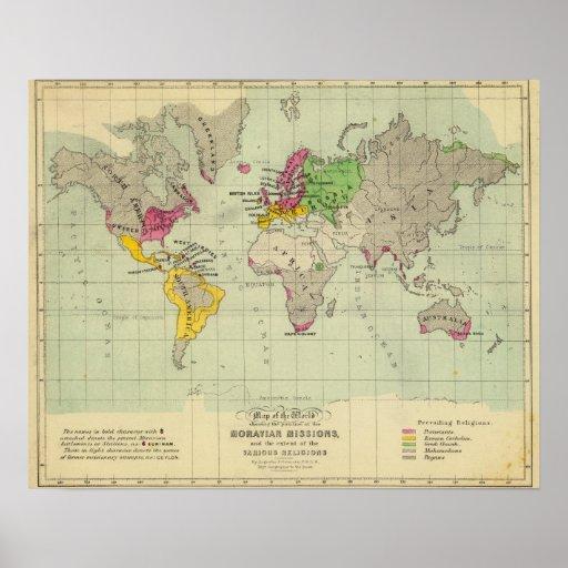 Mundo, misiones de Moravia Impresiones