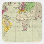 Mundo, misiones de Moravia Calcomanía Cuadradas Personalizadas