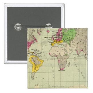 Mundo, misiones de Moravia Pin Cuadrado