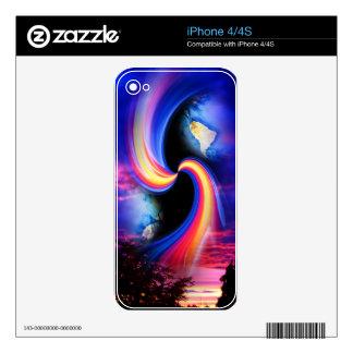 Mundo místico 3 calcomanía para iPhone 4