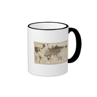 Mundo moral político taza de café