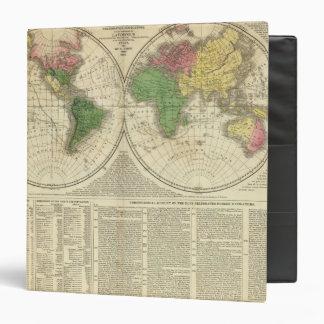 """Mundo mostrado como dos hemisferios carpeta 1 1/2"""""""