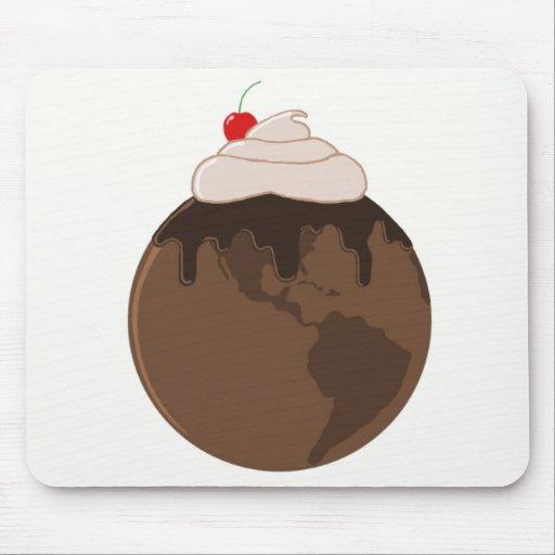 Mundo Mousepad del chocolate