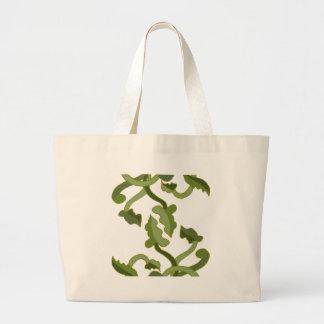 Mundo natural de la naturaleza del verde verde bolsa tela grande
